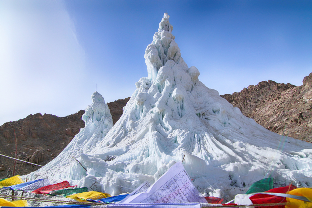 The Ice Stupas of Ladakh